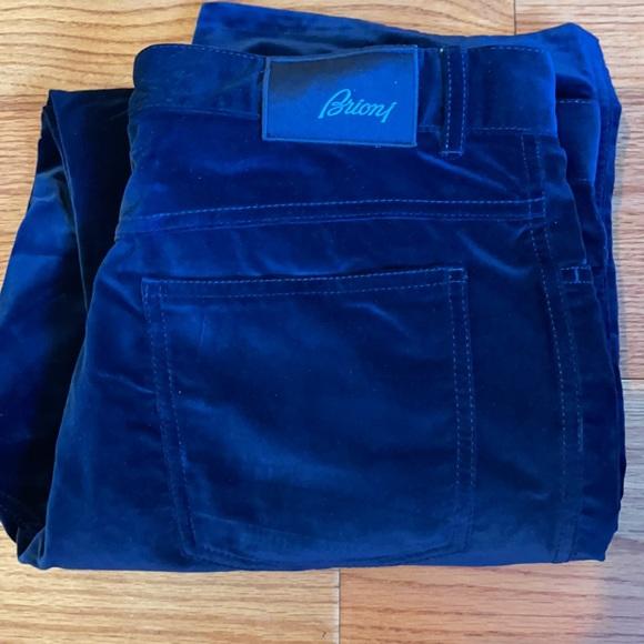 Brioni I blue velvet gorgeous pants